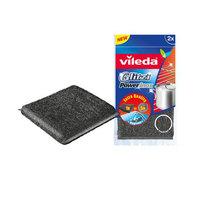 Vileda Glitzi Power Dish Washing Metallic Scourer 2Pcs