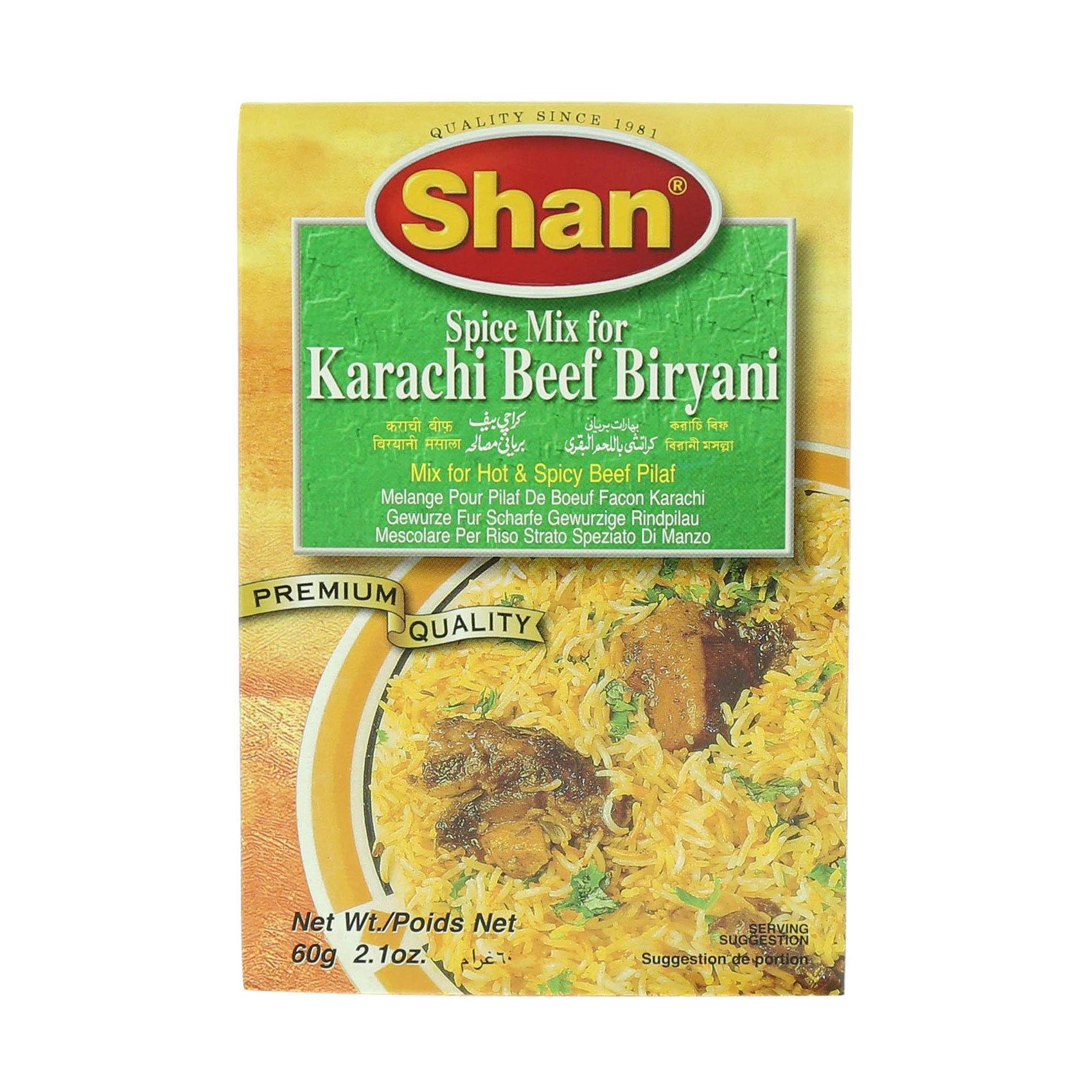 SHAN KARACHI BEEF BIRYANI MIX 75G