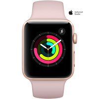 Apple Watch Series-3 42mm Gold Aluminium Case With Pink Sport Band