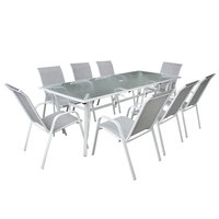 Textiline Steel Dining Set 9Pcs