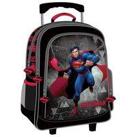"""Super Man - Trolley Bag 16"""" Bk-Rd"""