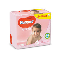 Huggies Baby Wipes Soft Skn 56 Wipes x 3