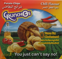 Crunchos Potato Chips Chili Flavour 25gx14