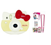 Fujifilm Instax Mini Hello Kitty Instant Camera with Film Sheet Soulder Strap and Sticker Sheet Pink