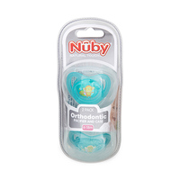Nuby Natural Touch Orthodontic Pacifier & Case 2 Packs