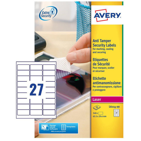 Buy Avery Anti Tamper Label L6114 20 Online Shop Avery On