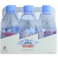 Evian Prestige Natural Mineral Water 330mlx6