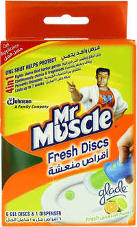 Mr Muscle 4In1 Fresh With Fresh Breeze Essence 6 Gel Discs And 1 Dispenser