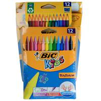 Bic Colour Felt Pack Of 12 +Colour Pencil Pack Of 12 + Wax Crayons Pack Of 12