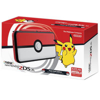 Nintendo New 2DSXL Pokeball Edition Console+2 Assorted Games