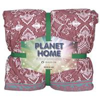 Planet Home Microfiber Comforter 150X220 Crimson