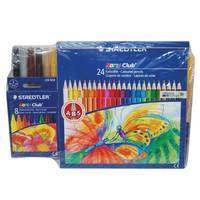 Staedtler 24 Felt Pen+24 Pencil Color+ 8 Wax crayon
