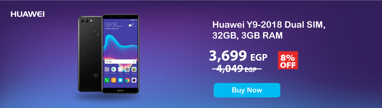 Huawei Y9-2018 Dual SIM, 32GB, 3GB RAM 4G LTE - Black