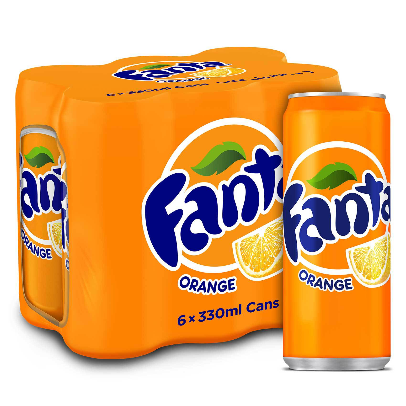 FANTA ORANGE CAN 330MLX6