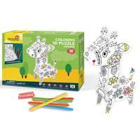 CubicFun DIY Coloring 3D Puzzle Giraffe Design