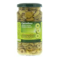 Carrefour Sliced Green Olives 230g