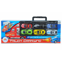 Truck Carrying With 6Pcs Diecast Car