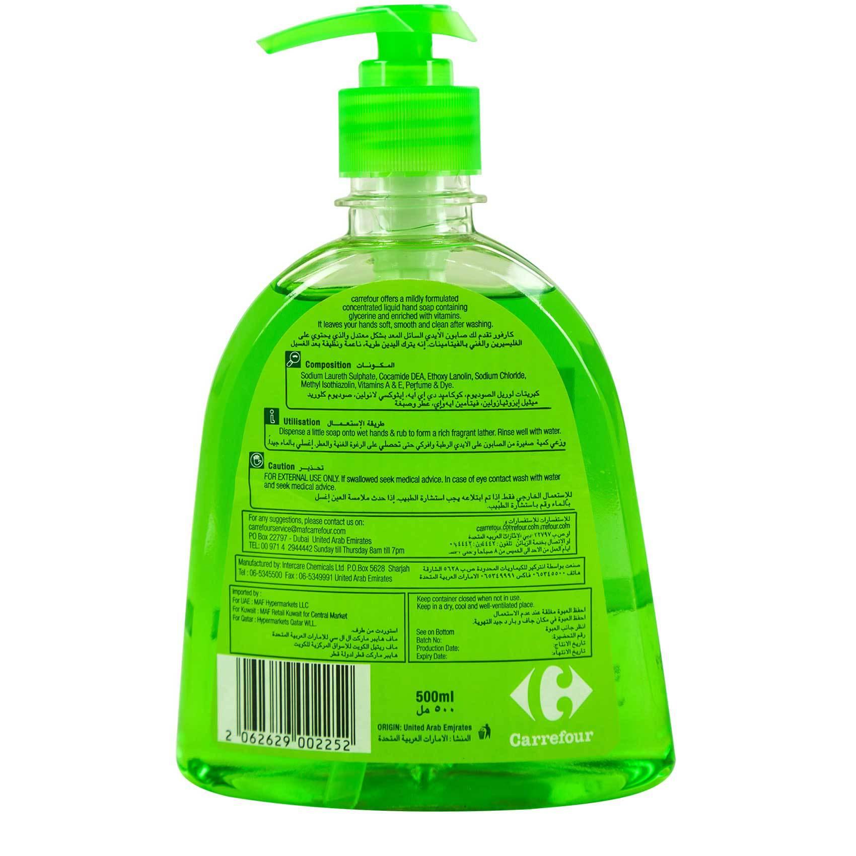 CRF LIQ H/WASH LIME CLEAR 500ML