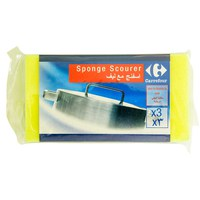 Carrefour Sponge Scourer 3 Pieces