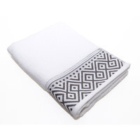 Cannon Hand Towel White/Grey 50X100cm