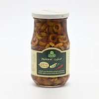 Halwani Green Olives Slice With Chilli 325 g