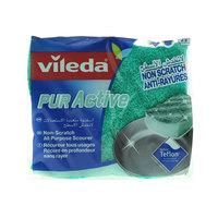 Vileda Pure Active Flex Non Scratch Dish Washing Sponge Scourer 2Pcs