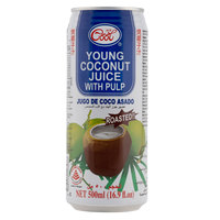 Ice Cool Young Coconut Juice with Pulp Roasted 500ml