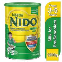 Nestlé Nido FortiProtect Three Plus (3-5 Years Old) Growing Up Milk Tin 1800g