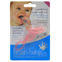 Brush-Baby's Chewable Toothbrush and Teether Pink