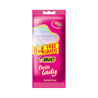 Bic Disposable Razors Pouch Twin Lady Neutral 8+4 Free