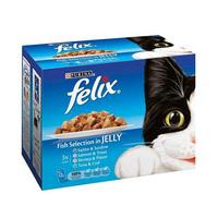 Felix Fish Selection In Jelly Tuna & Cod Cat Food 100GR X4