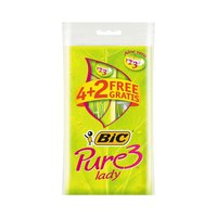 Bic Pure Lady Razor Blades Pack Of 4+2 Free