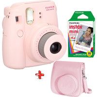 Fujifilm Instax Camera Mini 8 Pink + Filim + Case Worth 93 AED