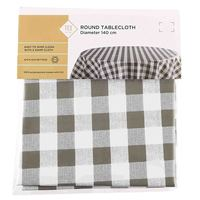 TEX Table Cloth Round 140 Taupe