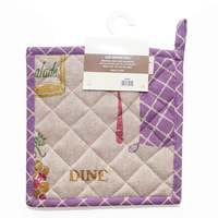 Cannon Pot Holder 20X20cm  Purple/Beige