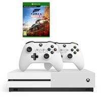 Microsoft Xbox One S 1TB Console+Forza Horizon 4 DLC Code+2 Wireless Controllers