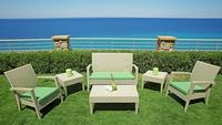 Rubex Garden Set4- 2 Fauteille +1 Sofa 2 seats+Center Table