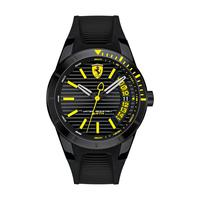 Scuderia Ferrari Men's Watch RERET Analog Black Dial Black Silicon Band 44mm Case