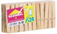 روزينبال ملاقط غسيل خشبية 24 قطعة