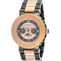 Mount Royale Men's Watch Black & Rose gold Dial Stainless Steel Sport-R393