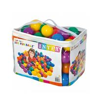 INTEX Colored Playing Balls 8 Cm 100 Pieces With Carry Bag