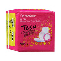 Carrefour Lady Daily Pads With Wings 14 Serviettes