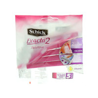 Schick Extract 2 Sensitive 5 Non-Slip Rubber Grip Razors