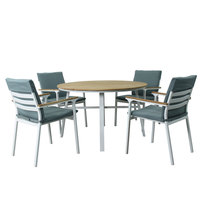 Charma Aluminium Dining Set 5Pcs With Cushions(Delivered within 7 business days)