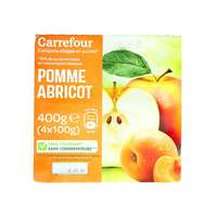 Carrefour Apple/Apricot Puree 100g x4