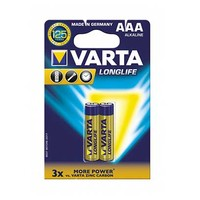 Varta Longlife Type AAA Alkaline Battery X2