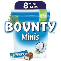 Bounty® Minis Milk Chocolate Mini Bars Pouch 228g (8pcs)