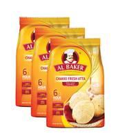 Al Baker Chakki Atta 2Kgx3