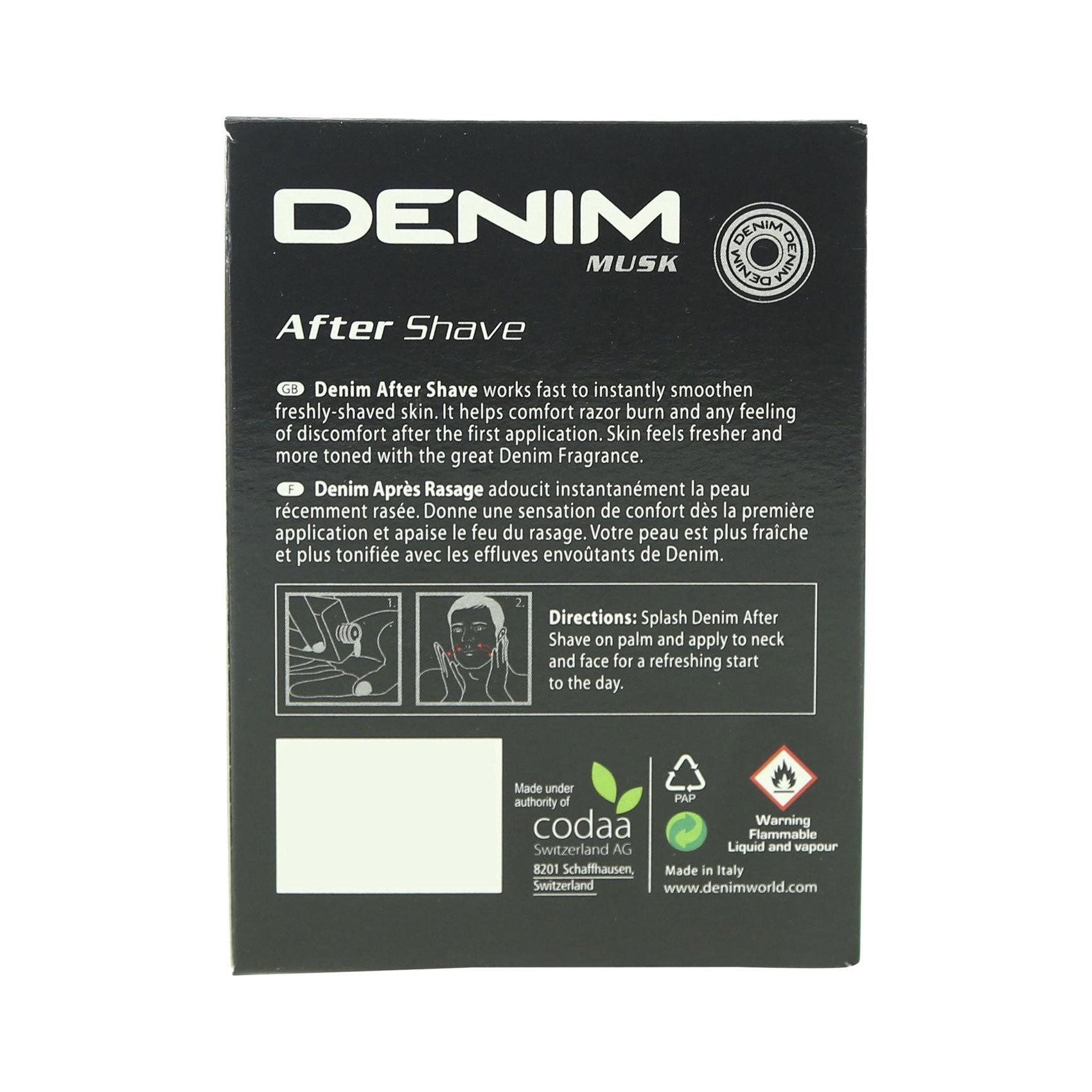 DENIM A/SHAVE MUSK 100ML