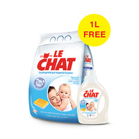 Le Chat Powder Detergent Regular 6KG +1L Free